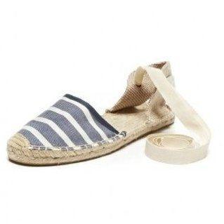 ☆現貨+預購☆美國品牌Soludos 時尚必敗草編鞋-藍白條紋涼鞋款草編鞋 (女)