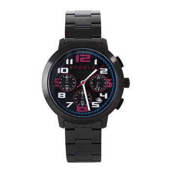 agnes b. SPORT b.系列手錶黑錶面(邊帶黑)
