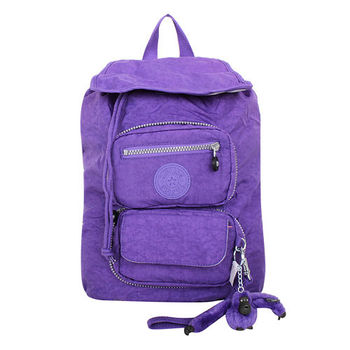 KIPLING VIVIDPURPLZ0  翻轉收納後背包(紫)