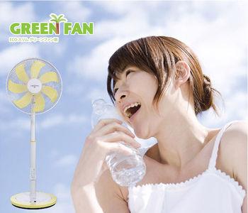 福利品【日本IZUMI】GREEN FAN 14節能靜音薄型扇(TDF-200Y)