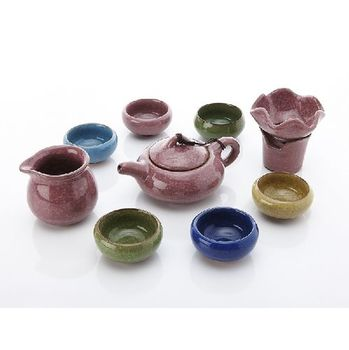 永世傳承-七彩冰裂釉茶具組
