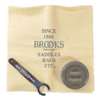 【BROOKS】皮革保養油座墊工具組