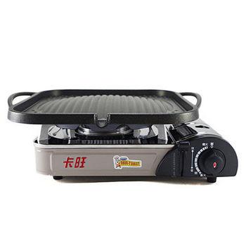 卡旺-遠紅外線瓦斯爐K1-1200V+韓國原裝大理石方形凸烤盤NY1117