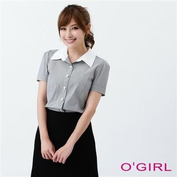 OGIRL經典百搭條紋襯衫(灰)
