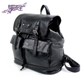 【88Queen❤包包女王】正韓空運★時尚英倫風多口袋牛津後背包
