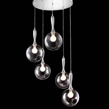【橙邑】Circle魚口造型吊燈(5顆/一組)