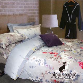 【R.Q.POLO】花間絮語 60支 100%天絲雙人加大七件式床罩組(6X6.2尺)