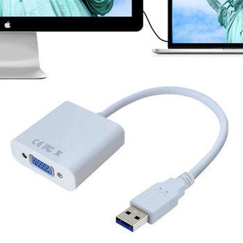K-Line USB3.0 to VGA 外接擴展顯示卡(白色)