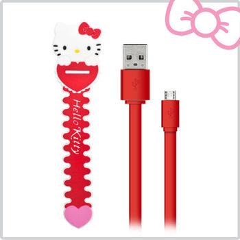 Hello Kitty 數位傳輸充電線 USB 2.0-紅 (KT-CB01RR)