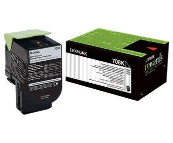 Lexmark 708K (70C80K0) 原廠黑色碳粉匣