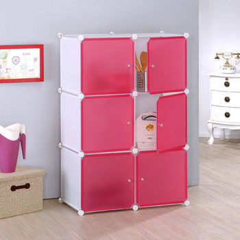 莫菲思 美學設計-6門組合櫃/收納櫃-白體桃門