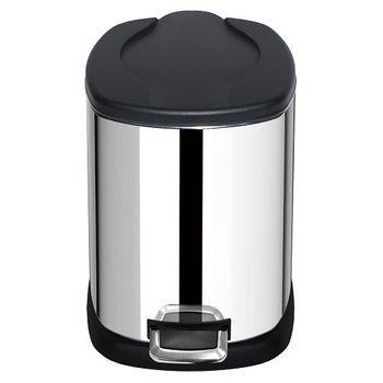 家簡塵除-麗絲紋不鏽鋼腳踏式垃圾桶(5L)