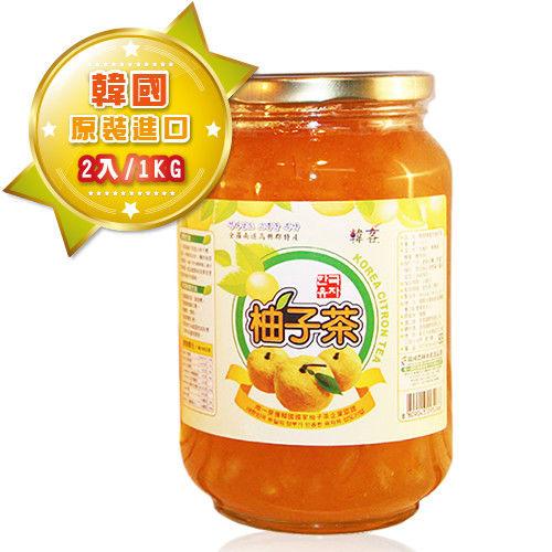 【韓客蜂蜜柚子茶】精裝禮盒-2入組(1kg/入)