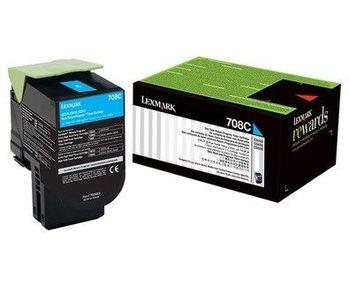 Lexmark 708C (70C80C0) 原廠藍色碳粉匣