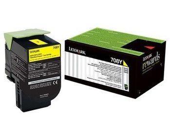 Lexmark 708Y (70C80Y0) 原廠黃色碳粉匣