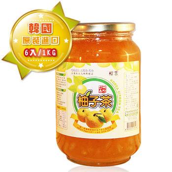 【韓客蜂蜜柚子茶】精裝禮盒-6入組(1kg/入)