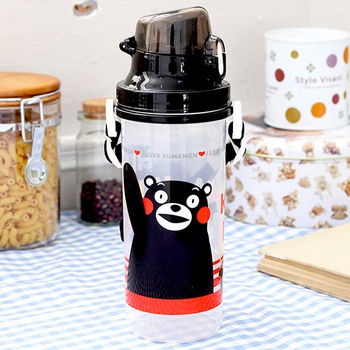 Kumamon熊本熊 彈蓋直飲水壺700cc-黑色