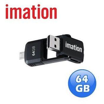 imation 2合1變形旋轉OTG隨身碟 64GB