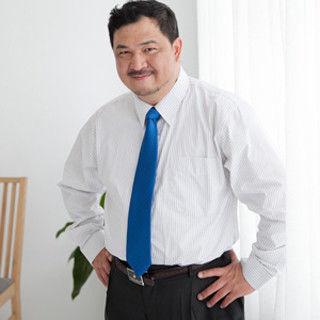 【Sexii】帥勁有型【超大尺碼】紳士條紋【黑條紋】白色長袖襯衫 (2件組)