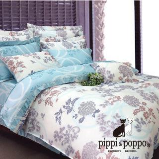 【R.Q.POLO】藍調姿彩 60支 100%天絲雙人標準七件式床罩組(5X6.2尺)