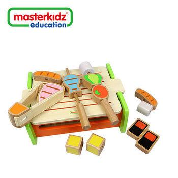 [ Masterkidz ] 木製燒烤爐玩具