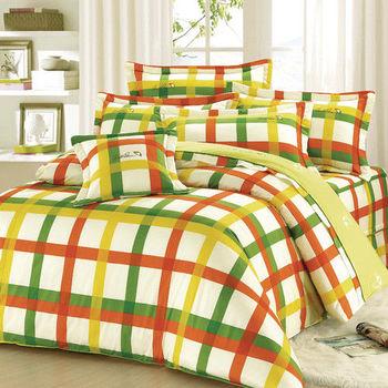 【Arnold Palmer雨傘牌】田園交響曲-40紗精梳純棉床罩雙人七件組