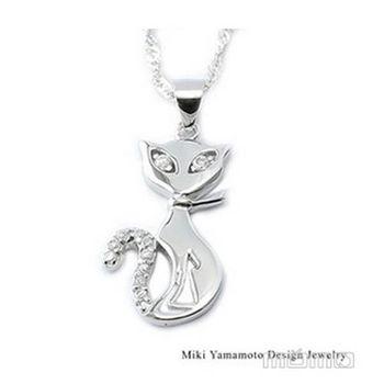【山本美樹】貓女 奧地利水晶純銀項鍊