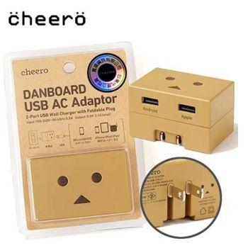 代理商公司貨 cheero 阿愣 1A + 2.1A 雙USB輸出充電器 壁插旅充頭