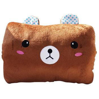 【ROSE】多功能可愛造型枕(小靠枕 午休枕 暖手枕)棕熊
