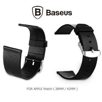 【BASEUS 倍思】Apple Watch (38mm) 經典真皮錶帶 - 含連結扣套裝版