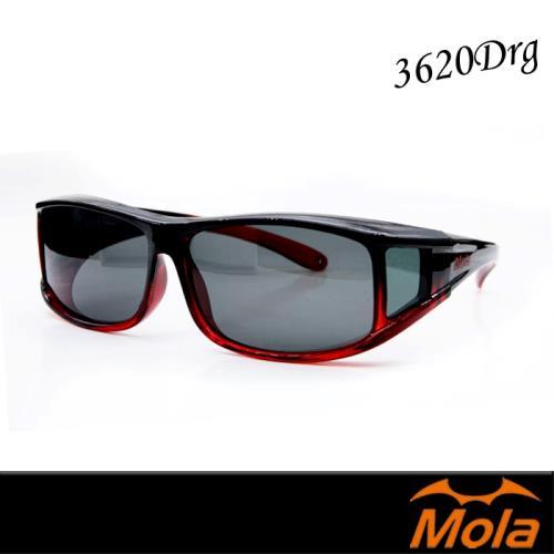 MOLA摩拉近視可戴外掛式偏光太陽眼鏡 套鏡 墨鏡-3620Drg
