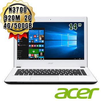 ACER 宏碁 E5-432G-P4TK 14吋 N3700 獨顯GT 920M 2G Win10筆電