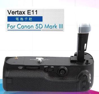 Pixel Vertax E11品色相機電池手把 For CANON 5DIII,高階快門按鍵,矽膠撥盤,多向按鈕