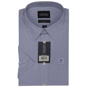 【MURANO】美式適感滿分短袖商務襯杉 藍