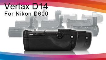 Pixel 品色相機電池手把 D14 For Nikon D600高階快門按鍵,矽膠撥盤,多向按鈕
