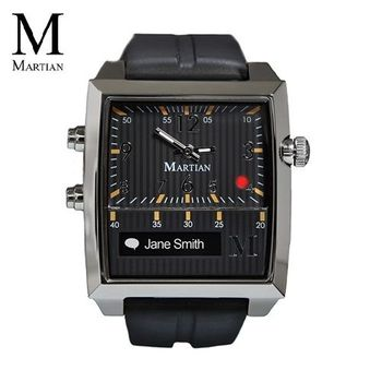 【Martian摩絢錶】Passport 藍牙語音聲控系列-黑色矽膠錶帶