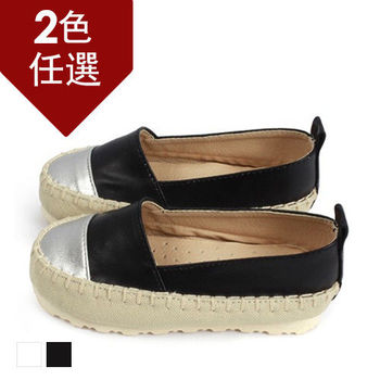 FUFA MIT 金屬拼色懶人鞋 ( FNB12) 黑色
