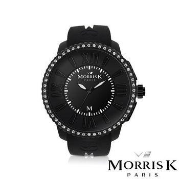 MORRIS K 獨一無二晶鑽潮流腕錶-黑 40mm