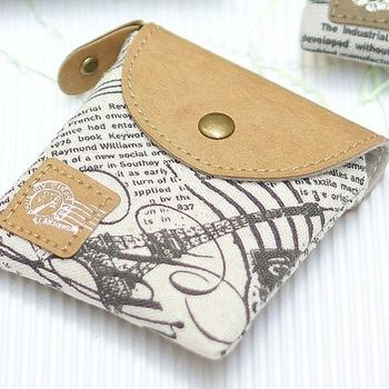 【Acorn*橡果】韓風 黑白記憶鑰匙包零錢包0154(兩個一組/隨機不挑款)