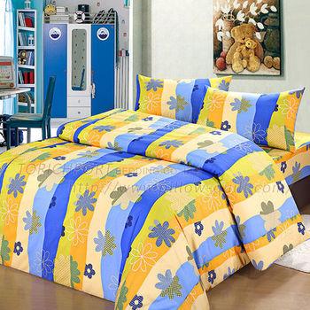 【Victoria】花舞藍 防蟎單人床包+枕套二件組
