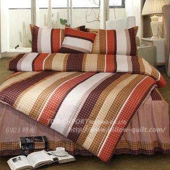 【Victoria】時尚咖 防蟎雙人床包+枕套三件組