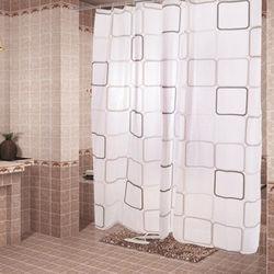 【買達人】時尚加厚型防水浴簾(黑白時尚)