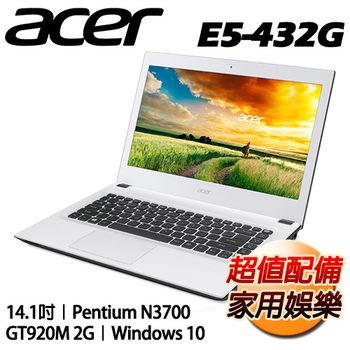 ACER 宏碁 E5-432G-P4TK 14吋 N3700四核心 獨顯NV920 2G Win10超值筆電 純淨白
