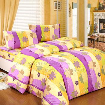 【Victoria】花舞紫 防蟎單人床包+枕套二件組