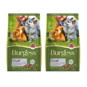 【Burgess】伯爵 高機能兔飼料 - 減肥兔 2公斤 X 2包