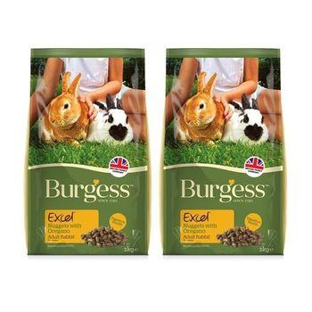 【Burgess】伯爵 高機能兔飼料 - 成兔(奧勒岡葉) 2公斤 X 2包