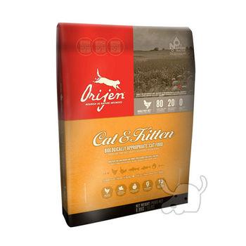 【Orijen】渴望 愛貓專用 成幼貓牧野鮮雞配方 貓糧 6.8公斤 X 1包