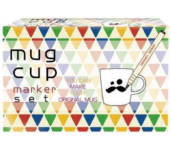 KoBARU可巴魯陶瓷彩繪筆10色裝+馬克杯組