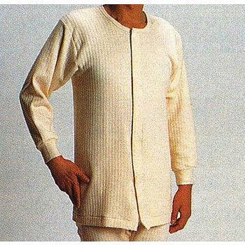 樂齡 日本製紳士秋冬用長袖前開式自粘內衣