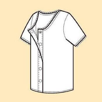 樂齡 日本製女用前開式自粘內衣 - 三分袖
